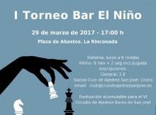 Cartel I Torneo Bar El Niño