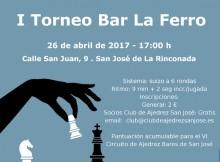 Cartel I Torneo Bar La Ferro
