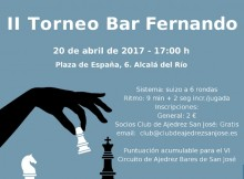 Cartel II Torneo Bar Fernando