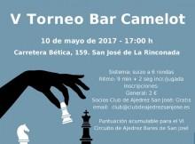 Cartel V Torneo Bar Camelot
