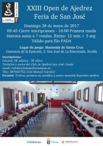 Cartel Open Feria 2017