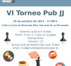 Cartel VI Torneo JJ