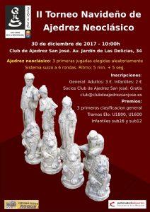 II Torneo Navideño de Ajedrez Neoclásico @ Club de Ajedrez San José | San José de la Rinconada | Andalucía | España