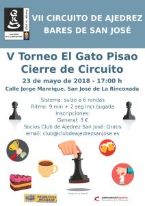 V Torneo El Gato Pisao – Cierre del VII Circuito de Bares @ El Gato Pisao | Andalucía | España