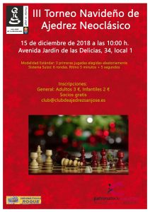 III Torneo Navideño de Ajedrez Neoclásico @ Club de Ajedrez San José