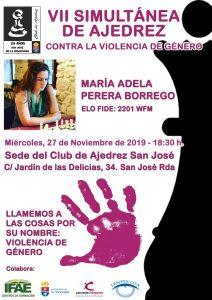VII Simultánea Contra la Violencia de Género @ Club de Ajedrez San José