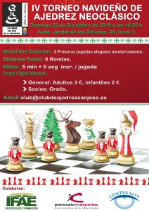 IV Torneo Navideño de Ajedrez Neoclásico @ Club de Ajedrez San José