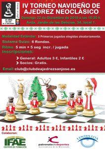 IV Torneo Navideño de Ajedrez Neoclásico @ Club de Ajedrez San José