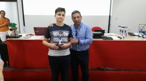 Subcampeón sub16: Francisco Miguel Callejas Rojas