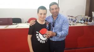 Subcampeón sub14: Ángel Javier Torres Ventosa