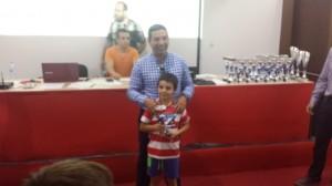 Tercer clasificado infantil local: Gabriel León Romero