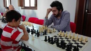 José Manuel Garrido entrenando a Gabriel León